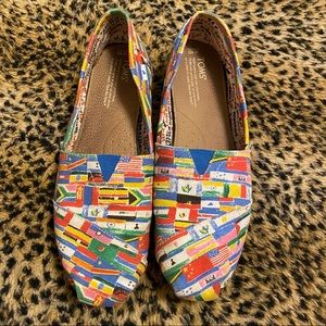 Toms • World Flag Canvas Slip-Ons -Limited Edition